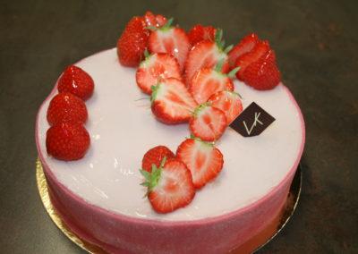 Gâteau aux fraises sans gluten