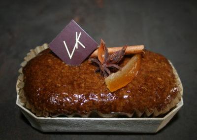 Gâteaux aux épices, aux noisettes et à l'orange confite (3.00€/pce +-140g)